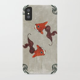 Peony gold fish iPhone Case