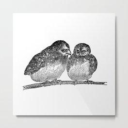 Round Little Birds Metal Print