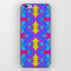 Purple Flame Flower Pattern iPhone Skin