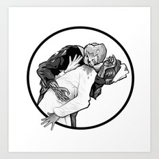This is Z-Day - The Happy Couple (white window) Art Print