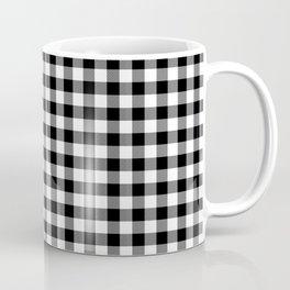 Original Milkweed White and Black Rustic Cowboy Cabin Buffalo Check Coffee Mug
