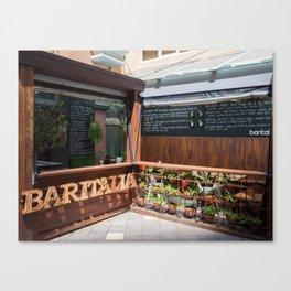 Baritalia Restaurant Canvas Print