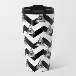 illuminati chevron white Travel Mug
