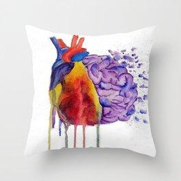 Heart vs. Mind Throw Pillow