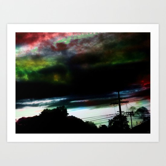 Dull to Dim In A Night Sky Art Print