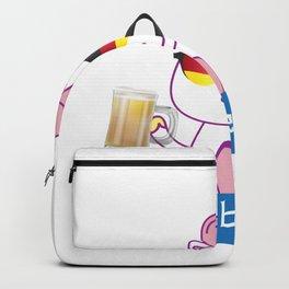Unicorn Oktoberfest Funny Backpack