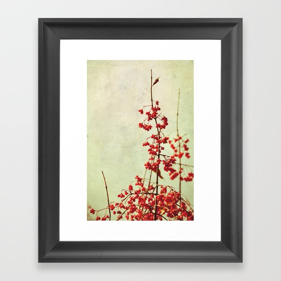 autumn berries Framed Art Print