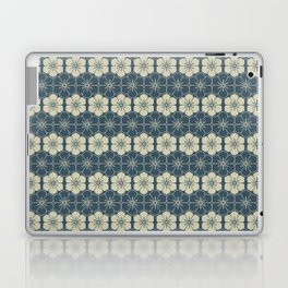 Blue Floral Japanese Pattern Laptop & iPad Skin