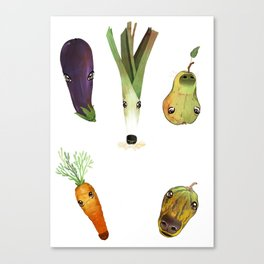 Veggie Doggos Canvas Print
