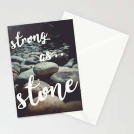 strong as stone Stationery Cards