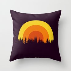 summer mountain Throw Pillow