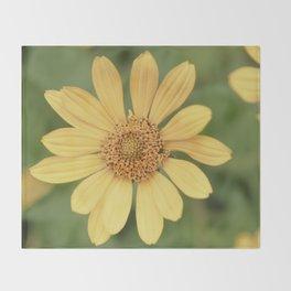 Beautiful Yellow Vintage Flower Throw Blanket
