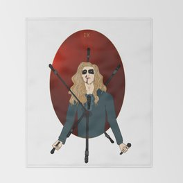 "IX of Swords - Per ""Dead"" Ohlin Throw Blanket"