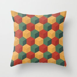 Retro Cubic Throw Pillow