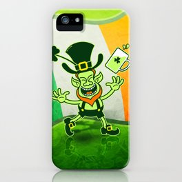 Leprechaun Full of Joy Celebrating St Patrick's Day iPhone Case