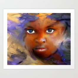 every child  / Haiti., Caribbean, children, portrait Art Print