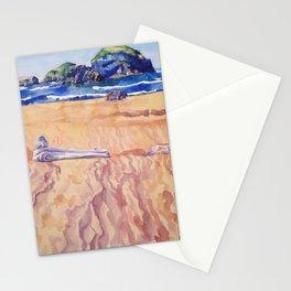 On the Oregon Coast (Meyers Beach) Stationery Cards