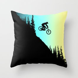 MTB Colors Throw Pillow