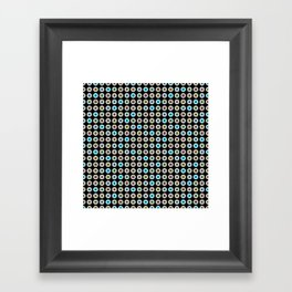 googly eyes pattern Framed Art Print