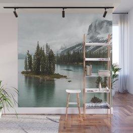 Emerald Landscape Photography | Maligne Lake | Jasper Alberta | Spirit Island Wall Mural