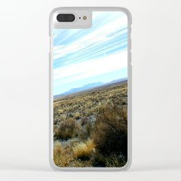 Nevada scenery Clear iPhone Case