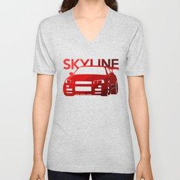 Nissan Skyline GT-R  - classic red - Unisex V-Neck