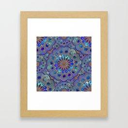 Mandala with Silk Effect Framed Art Print