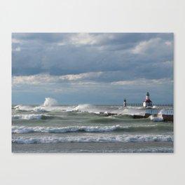 Windblown Lake Michigan Canvas Print