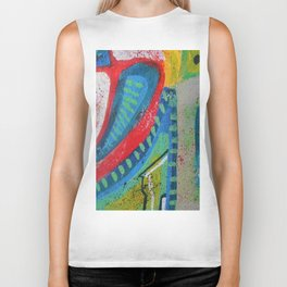 Abstract landscape - bright, eye-opening, vibrant color piece Biker Tank