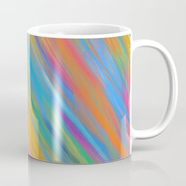 Color Overload Painting / Watercolor Hand Painted Tie-Dye Effect Gradient / Orange Yellow Blue Pink Coffee Mug