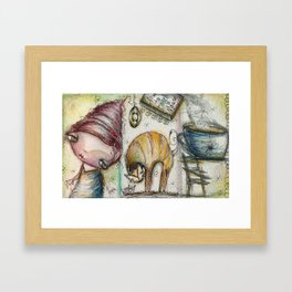 How To Catch a Mouse Framed Art Print