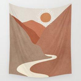 Minimalistic Landscape I Wall Tapestry