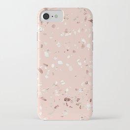 Blush Pink + Rose Gold Terrazzo iPhone Case