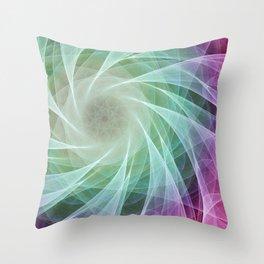 Whirlpool Diamond 2 Computer Art Throw Pillow