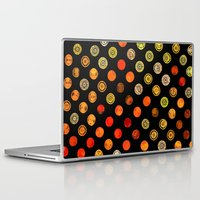 drum Laptop & iPad Skins featuring Fire Drum by M.D. Becker