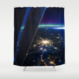 Moscow, Russia from ISS-30 Shower Curtain