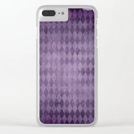 Lavender diamonds Clear iPhone Case