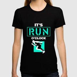 Run o clock - running, marathon T-shirt