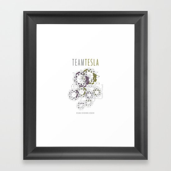 Team Tesla Framed Art Print