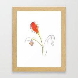 naked paring Framed Art Print