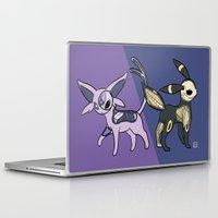 umbreon Laptop & iPad Skins featuring Espeon & Umbreon Anatomy by Logan Niblock