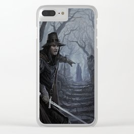 Chasing the Devil Clear iPhone Case