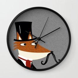Gentleman Fox Wall Clock