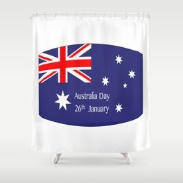 Australia Day Flag Shower Curtain