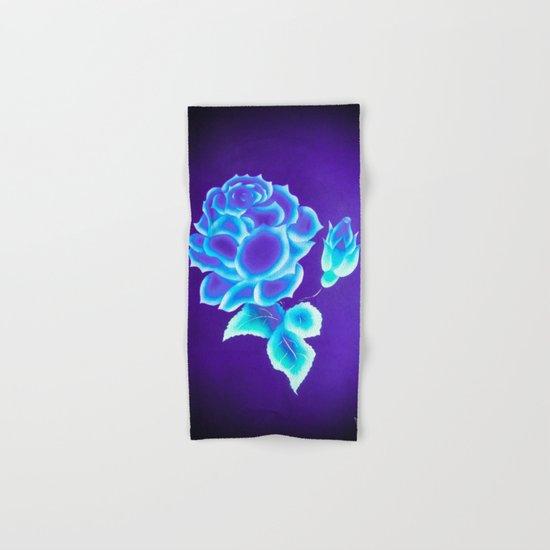 Blue Rose Hand & Bath Towel