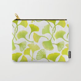 First Day of Autumn Ginkgo Leaves Carry-All Pouch