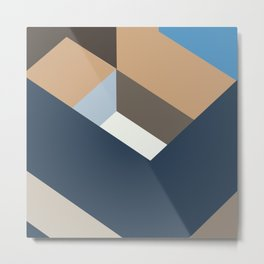 3D Colorful Minimalist Abstract Colorful Art Metal Print