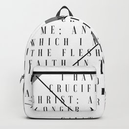 Galatians 2:20 | Scripture Print Backpack
