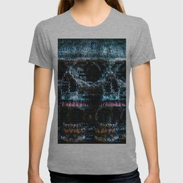 Analogue Glitch Skull Array T-shirt
