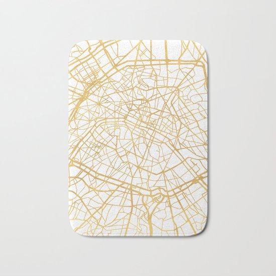 PARIS FRANCE CITY STREET MAP ART Bath Mat